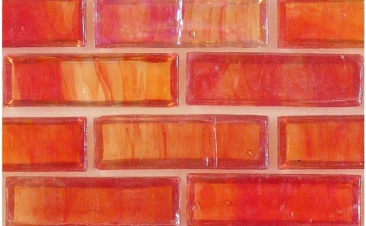 Hirsch Uniform Brick Red Glass Tile Glossy Iridescent