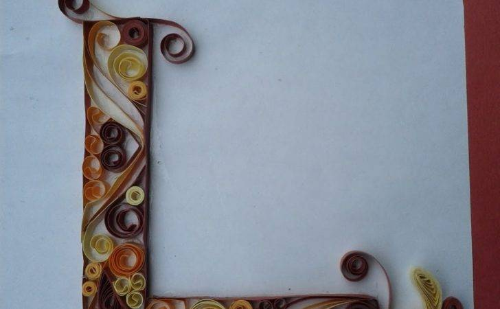 Hobby Crafts Quilled Monogram