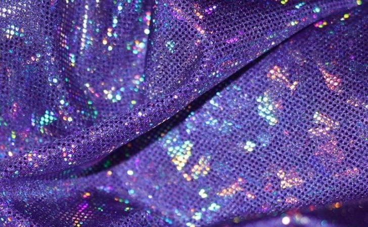 Hologram Fabric Leaf Purple