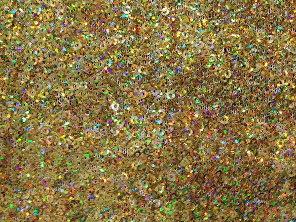 Holographic Gold Micro Sequin Fabric Cali Fabrics