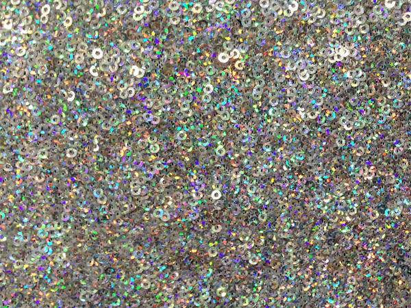 Holographic Silver Micro Sequin Fabric Cali Fabrics