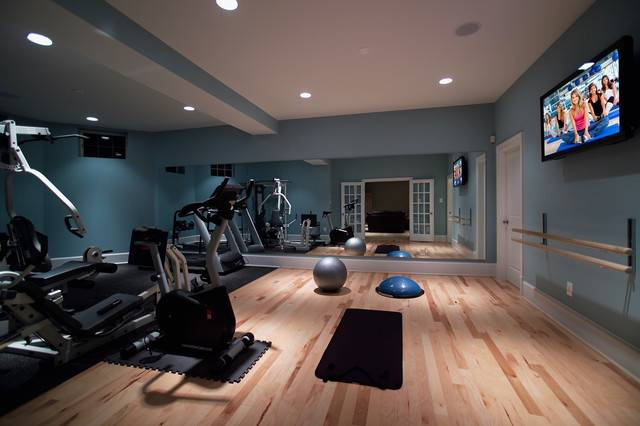 Home Basement Gymnasium Dance Studio Modern Gym