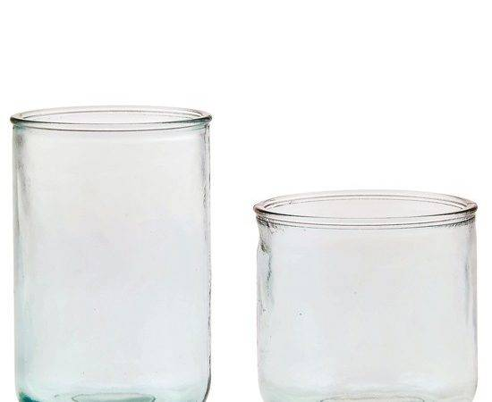 Home Classico Recycled Glass Candle Container Case