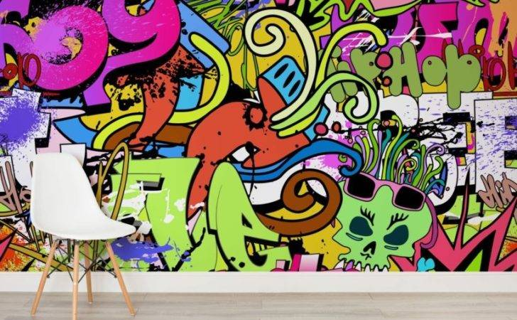 Home Cool Abstract Funky Wall Art Mural