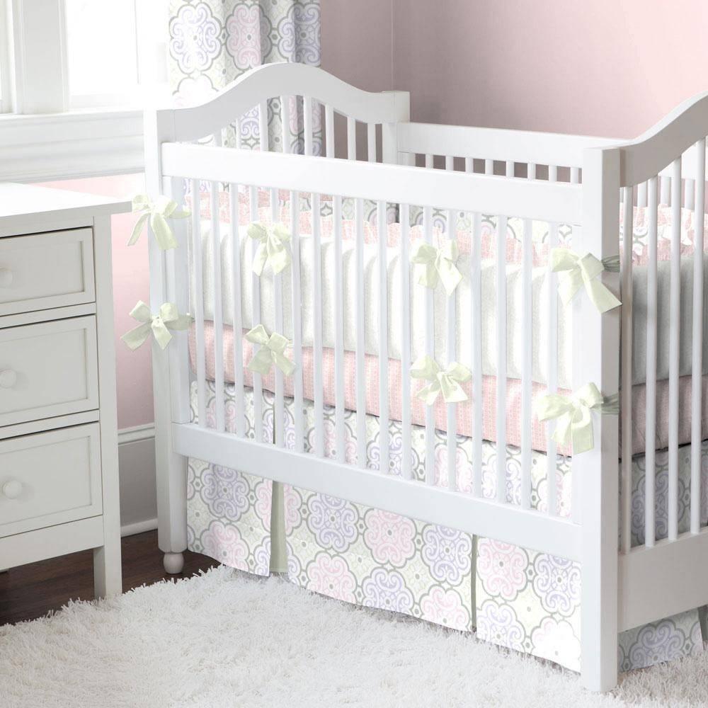 Home Crib Bedding Pink Modern Floral