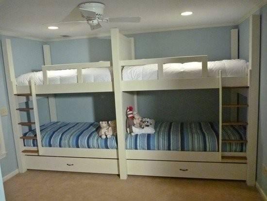 Home Custom Made Quad Bunk Bed