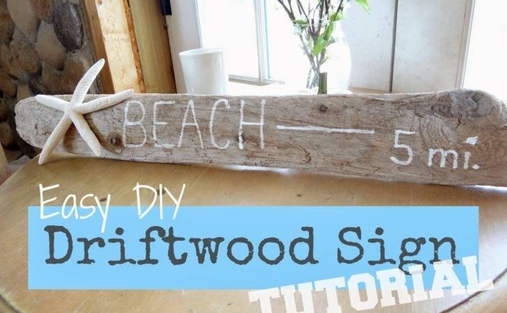 Home Days Coastal Style Easy Diy Driftwood Sign Tutorial