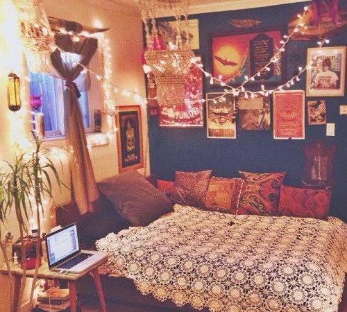 Home Decor Hippie Vintage Bedroom Boho Indie Bed Retro Bohemian