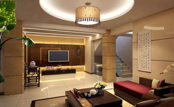 Home Decorations Cool Ceiling Design Round Pop Living Room