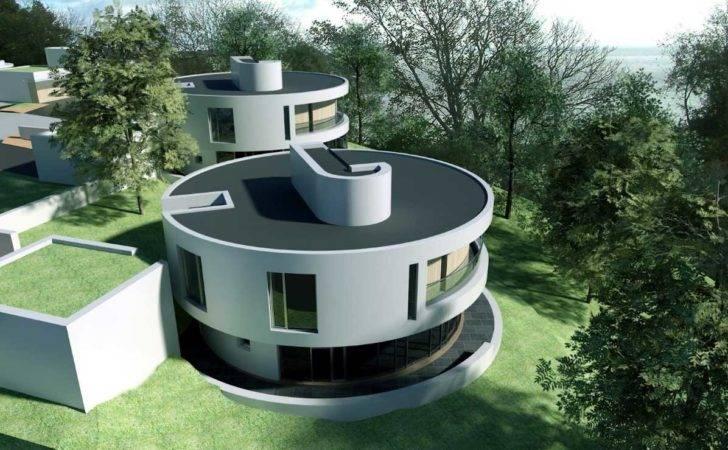 Home Design Round Shape Modern Unique