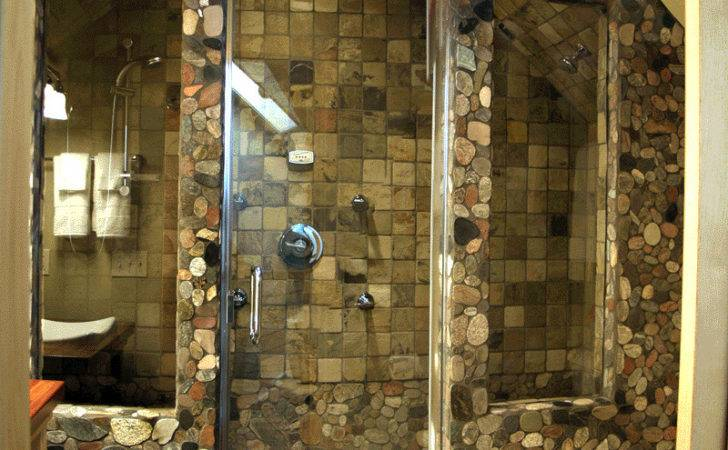 Home Design Stone Shower