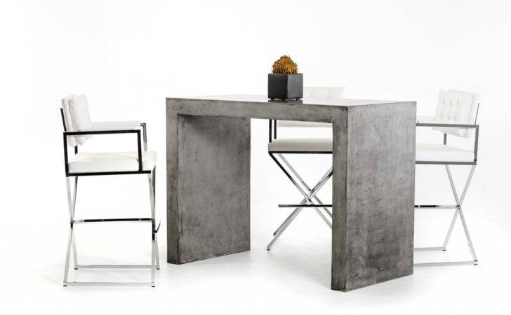 Home Dining Bar Modrest Mcgee Modern Concrete Table