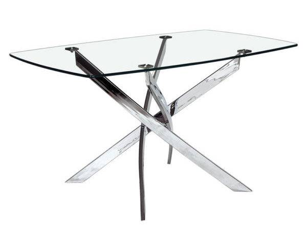 Home Dining Tables Glass Top Victor Table