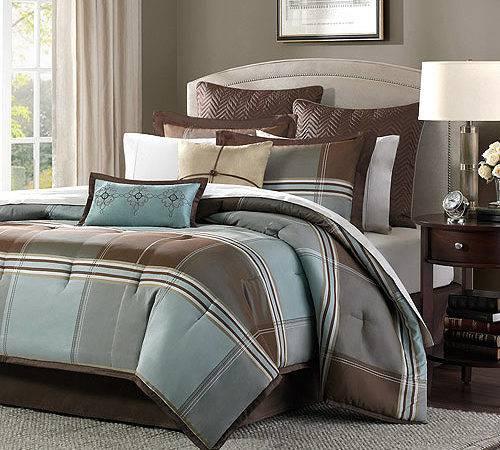 Home Essence Daniel Piece Comforter Set Blue Brown Walmart