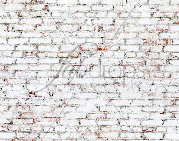 Home Fab Cloth Painted White Brick Backdrop
