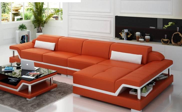 Home Furniture Modern Design Genuine Leather Sectional Sofa Shape