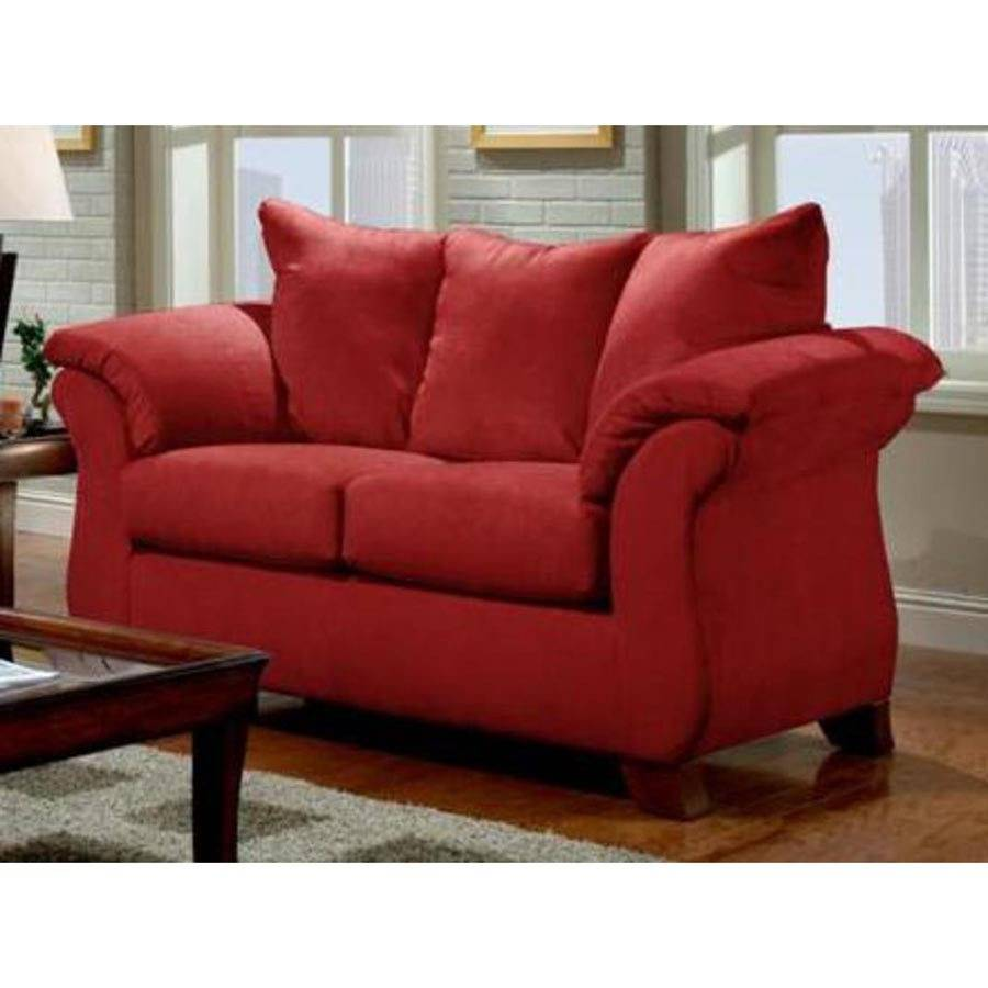 Home Furniture Srb Armstrong Loveseat Sensations Red Brick