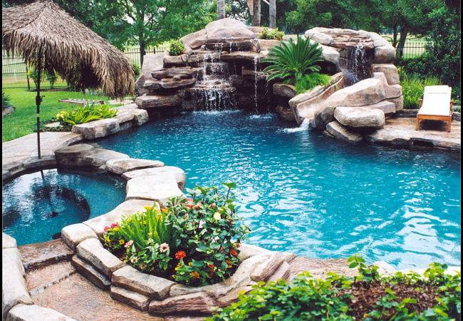 Home Garden Artificial Rocks Around Swimming Pool