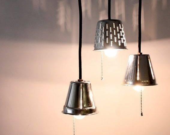 Home Garden Lighting Industrial Pendant Lights Repurposed Grater Lamps