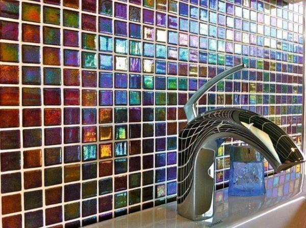 Home Glass Tiles Coloured Mosaic
