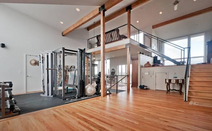 Home Gym Contemporary Open Floor Plan Building Plans