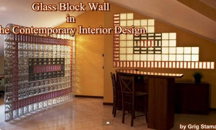 Home Interior Design Enhanced Through Glass Block