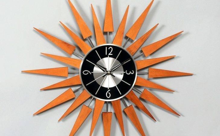 Home Kids Decor Clocks George Nelson Wooden Sunburst Clock