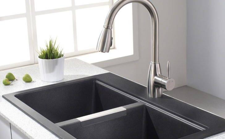 Home Kitchen Sinks Granite Kraus Inch