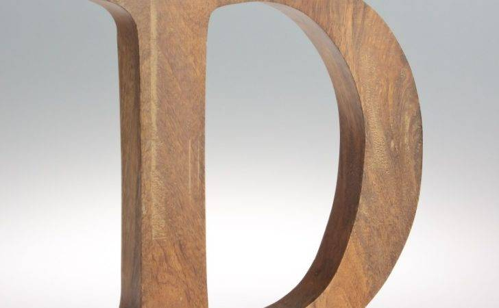 Home Letters Natural Mango Wood