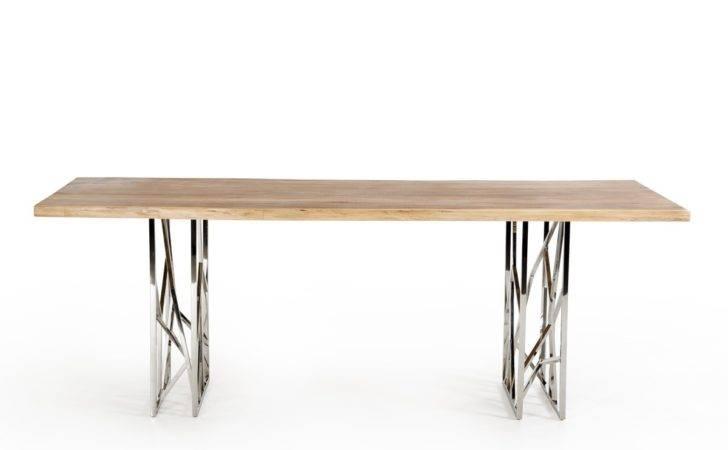 Home Modrest Acorn Modern Live Edge Wood Dining Table