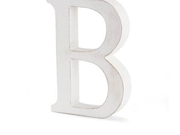 Home Nkuku Distressed Mango Wood Letters White