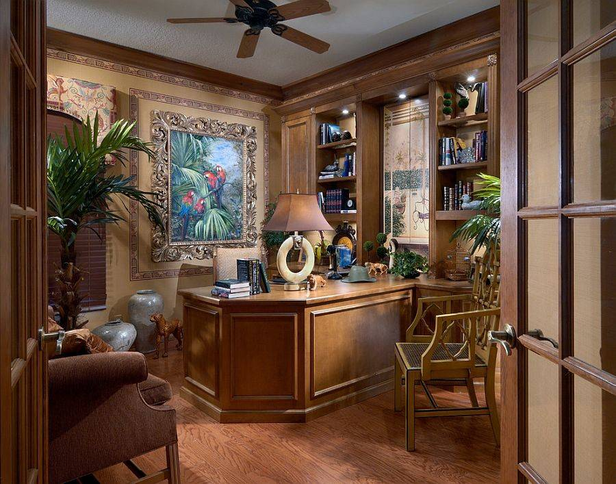 Home Office Design Oozes Tropical Flair Petron