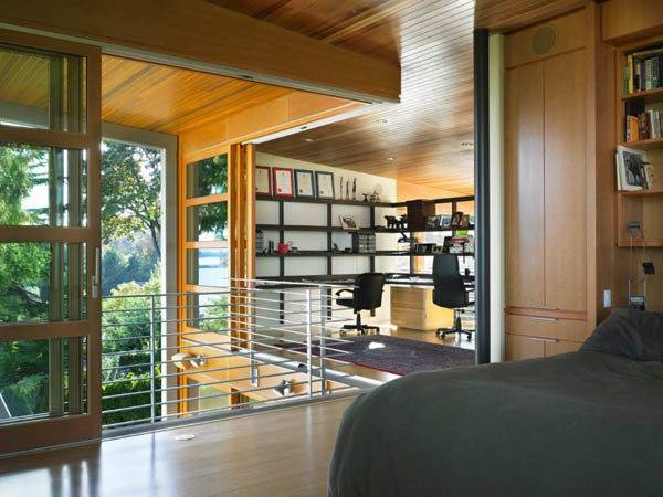 Home Office Master Bedroom Two Story Modern House Design