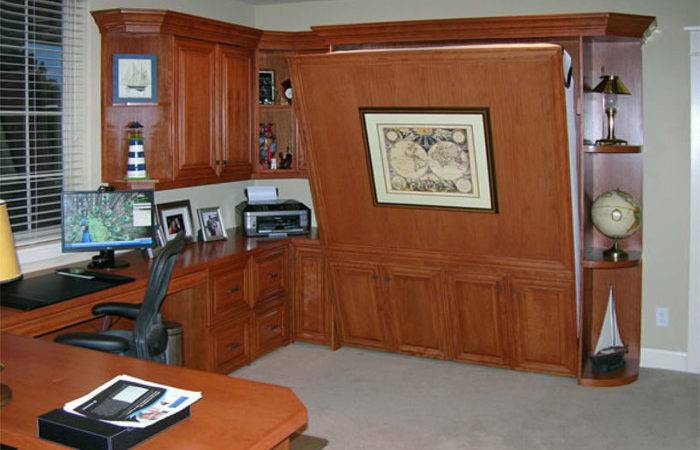 Home Office Murphy Bed Flyingbeds Wrap Wall