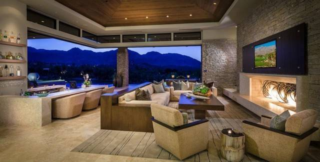 Home Palm Desert Indoor Outdoor Living Contemporary Room