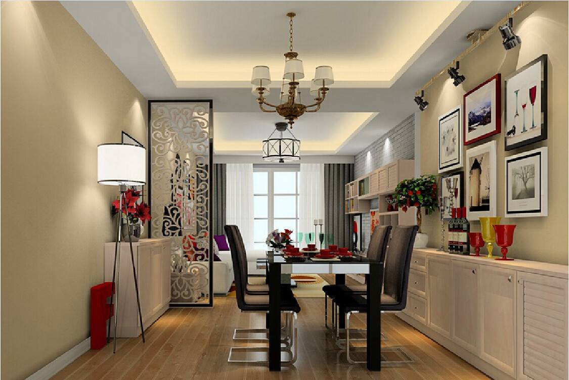 Home Partition Designs Between Drawing Dining