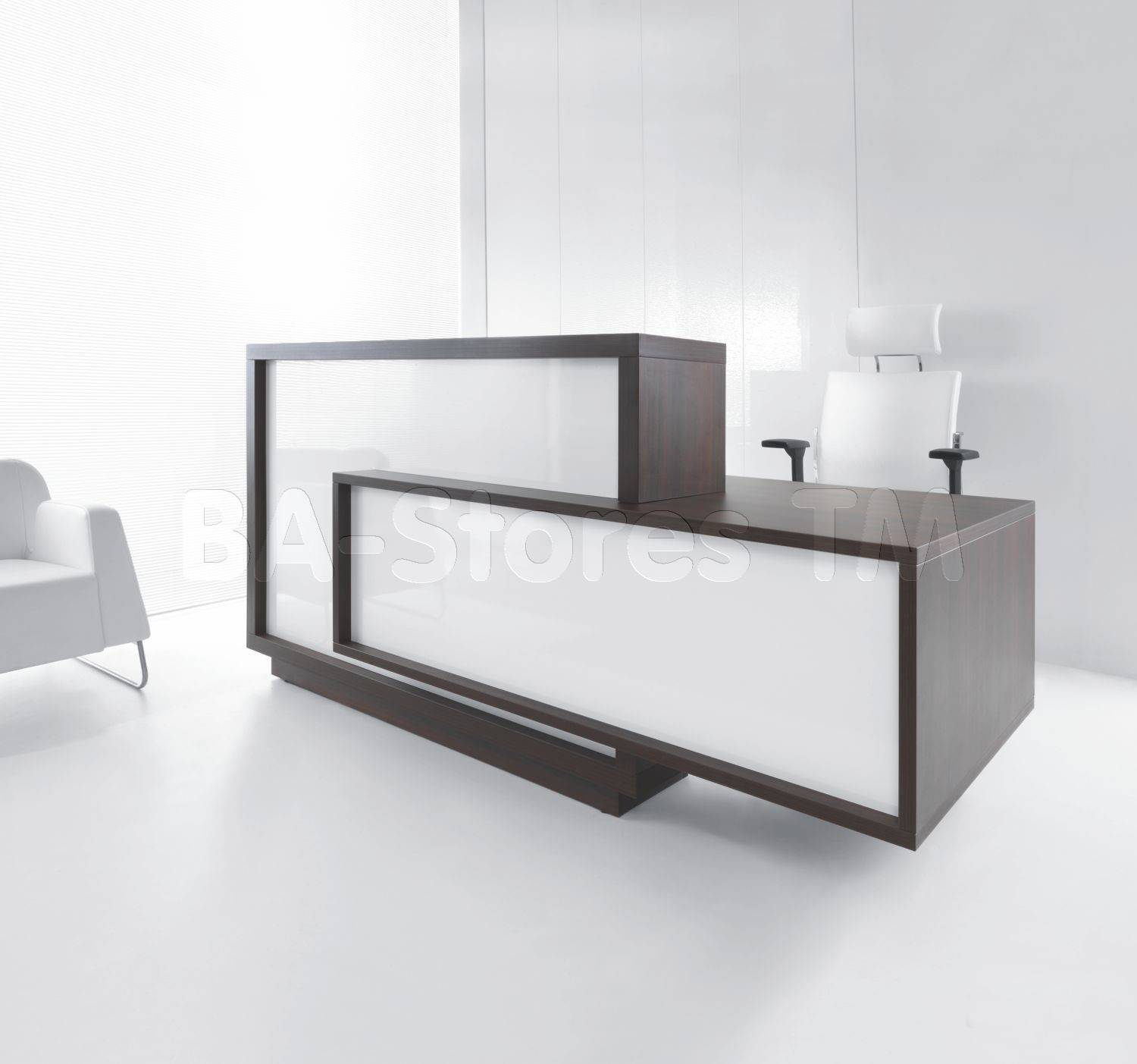 Home Reception Desk Modern Glass Design Pin