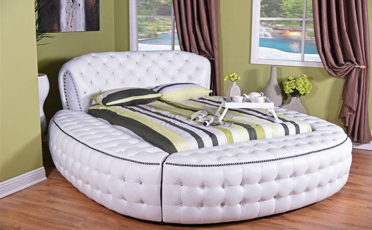 Home Shop Bedroom Suites Round Diamond Bed Set