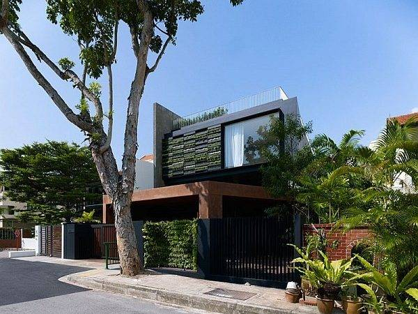 Home Singapore Sloping Rooftops Vertical Gardens