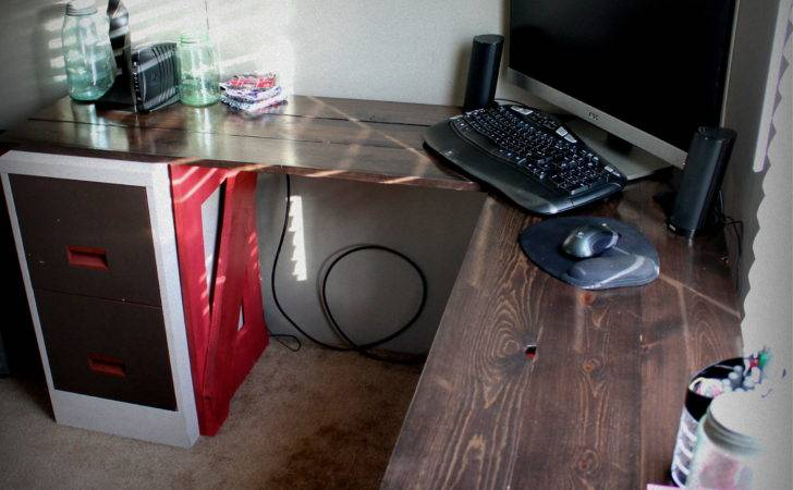 Homemade Computer Corner Desk Home Everything Pinterest