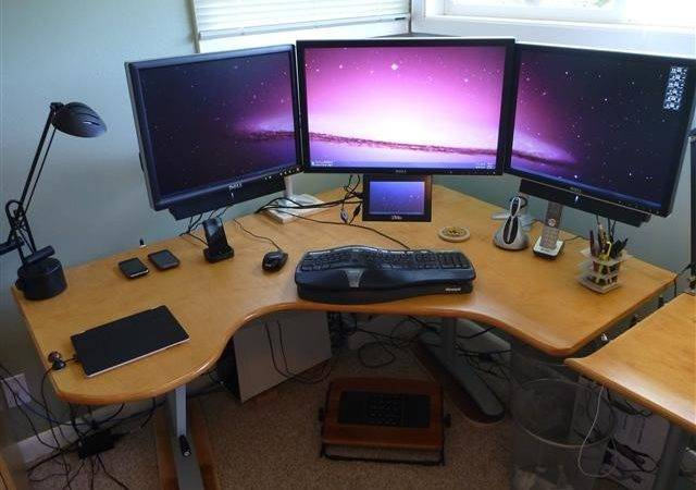 Homemade Custom Diy Ergonomic Computer Desk Mikehardy