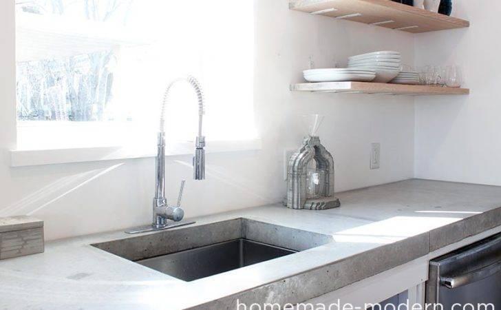 Homemade Modern Diy Concrete Kitchen Countertops