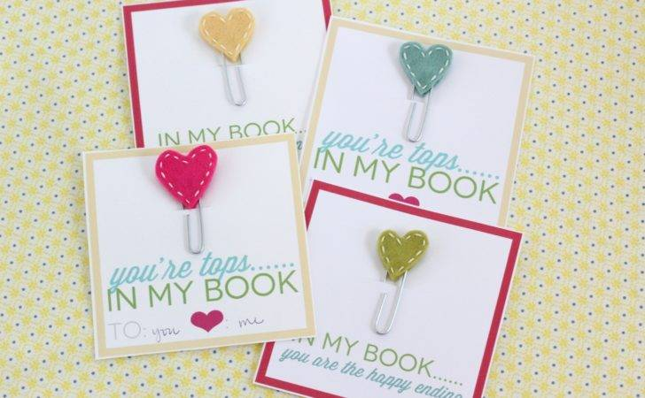 Homemade Valentine Cards Stitched Heart Bookmarks