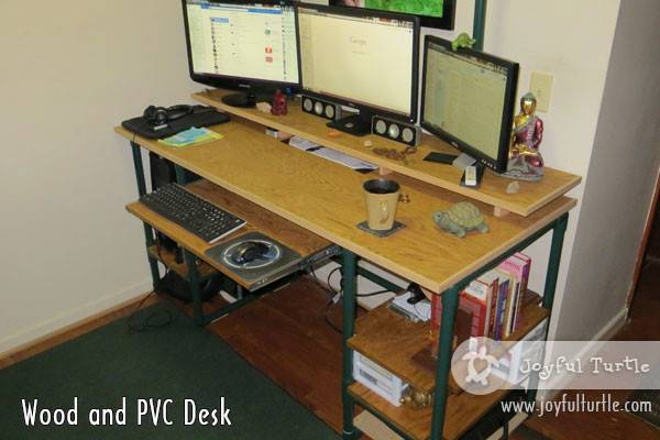Homemade Wood Pvc Computer Desk Joyful Turtle