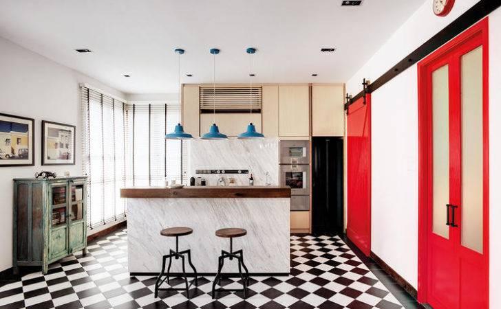 Homes Black White Checkered Floors Home Decor Singapore