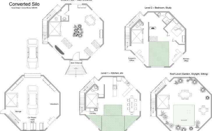 Homes Design Floor Plan Addition Silo Grain Bin House Plans