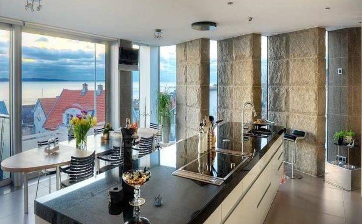 Homes Open Floor Plan Modern Mountain Home Interiors Ocean House