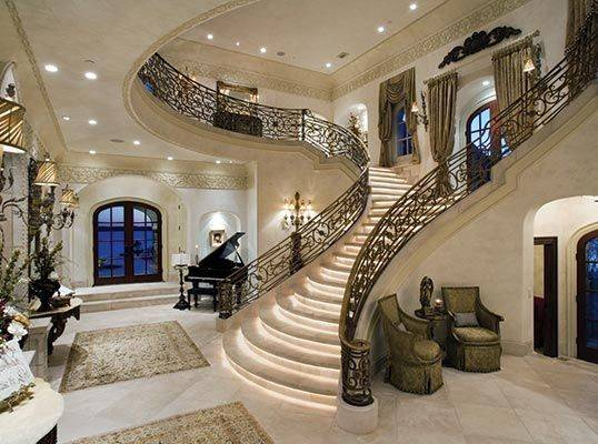 Homes Stairs Pinterest Beautiful Grand Entrance