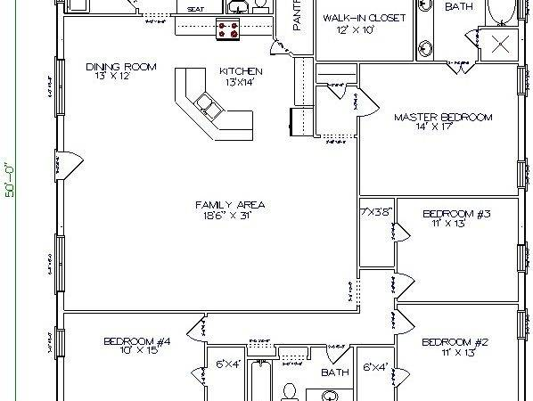 Homes Texas Steel Barn Barndominium Floor Plans