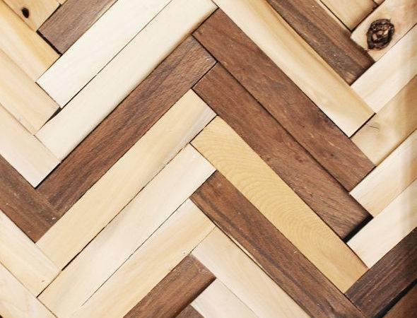 Hometalk Herringbone Pattern Wall Art Using Wood Shims